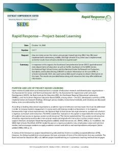 Rapid Response Project-based Learning