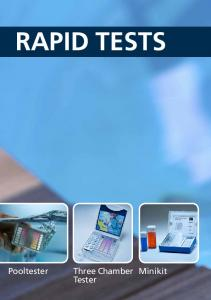 RAPID TESTS. Minikit. Tester.  Pool & Spa Water Testing - January 2016