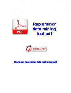 Rapidminer data mining tool pdf Download Rapidminer data mining tool pdf