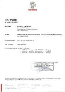 RAPPORT N page PROGRAMME DES ESSAIS