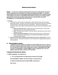 RAR Blood collection Guidelines