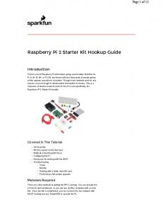 Raspberry Pi 2 Starter Kit Hookup Guide