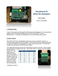 Raspberry Pi GPIO for Dummies