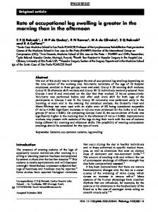 Rate of occupational leg swelling is greater in the morning than in the afternoon