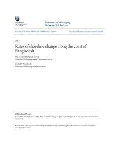 Rates of shoreline change along the coast of Bangladesh