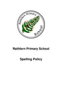 Rathfern Primary School. Spelling Policy