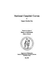 Rational Cuspidal Curves