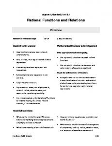 Rational Functions and Relations