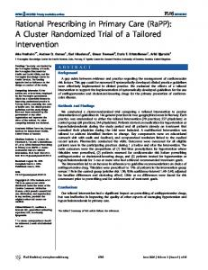 Rational Prescribing in Primary Care (RaPP): A Cluster Randomized Trial of a Tailored Intervention