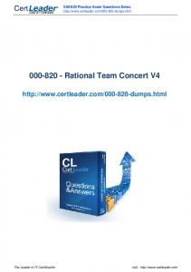 Rational Team Concert V4