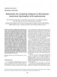 Rationale for treating oedema in Duchenne muscular dystrophy with eplerenone