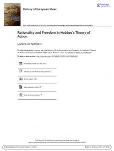 Rationality and Freedom in Hobbes's Theory of Action
