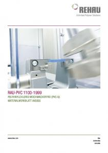 RAU-Pvc polyvinylchlorid weichmacherfrei (PVC-U) Materialmerkblatt av Automotive Industrie
