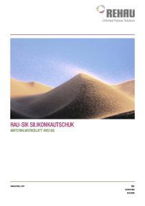 RAU-SIK SILIKONKAUTSCHUK.  Automotive Industrie
