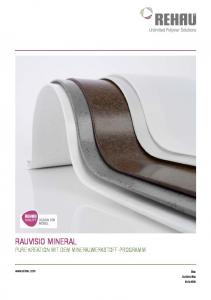 RAUVISIO Mineral.  Bau Automotive Industrie