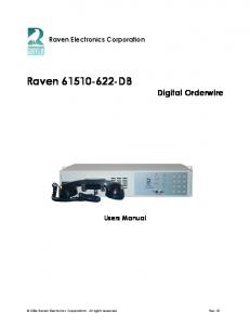 Raven DB Digital Orderwire