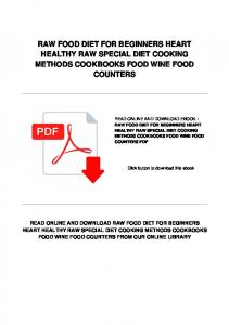 RAW FOOD DIET FOR BEGINNERS HEART HEALTHY RAW SPECIAL DIET COOKING METHODS COOKBOOKS FOOD WINE FOOD COUNTERS