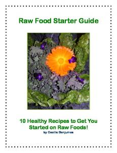 Raw Food Starter Guide