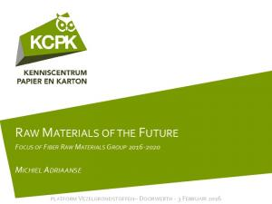 RAW MATERIALS OF THE FUTURE