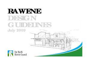 RAWENE DESIGN GUIDELINES. July 2009
