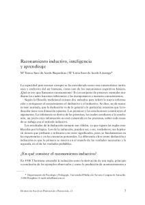 Razonamiento inductivo, inteligencia y aprendizaje