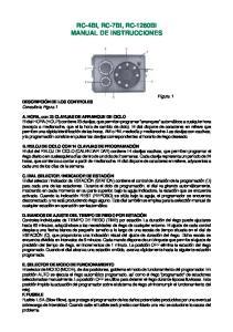 RC-4Bi, RC-7Bi, RC-1260Bi MANUAL DE INSTRUCCIONES
