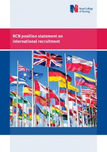 RCN position statement on international recruitment