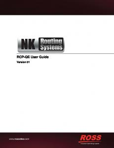 RCP-QE User Guide. Version 01