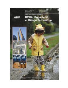 RCRA: Reduciendo el Riesgo de Residuo
