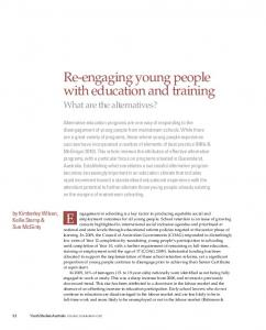 Re-engaging young people with education and training