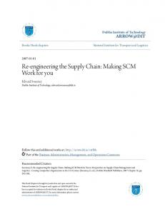 Re-engineering the Supply Chain: Making SCM Work for you