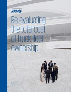 Re-evaluating the total cost of truck fleet ownership