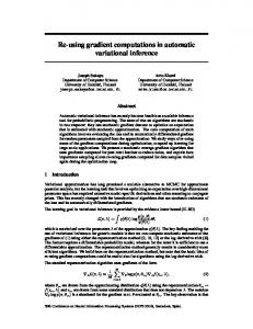 Re-using gradient computations in automatic variational inference