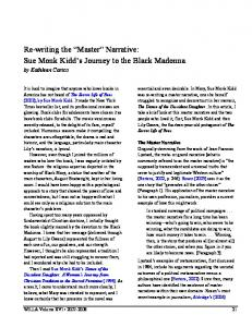 Re-writing the Master Narrative: Sue Monk Kidd s Journey to the Black Madonna