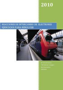 REACCIONES DE INTERCAMBIO DE ELECTRONES EJERCICIOS PARA RESOLVER