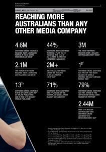 REACHING MORE AUSTRALIANS THAN ANY OTHER MEDIA COMPANY