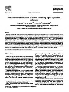 Reactive compatibilization of blends containing liquid crystalline polymers