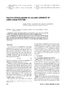 REACTIVE CRYSTALLIZATION OF CALCIUM CARBONATE BY LIQUID-LIQUID REACTION