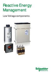 Reactive Energy Management. Low Voltage components