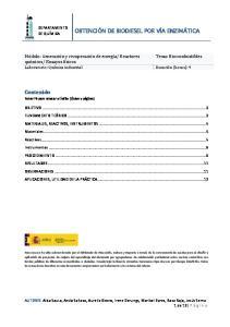 Reactores Tema: Biocombustibles