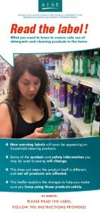 Read the label! What you need to know to ensure safe use of detergents and cleaning products in the home