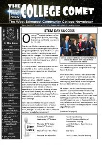 Read the WSCC Comet in COLOUR at  College STEM (Science, Technology, Engineering and Maths) programme for