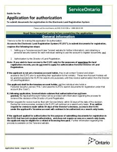 Read these important notes before completing the application General information
