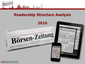 Readership Structure Analysis CZAIA MARKTFORSCHUNG