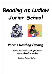 Reading at Ludlow Junior School