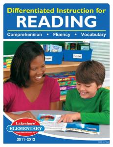 READING Comprehension Fluency Vocabulary