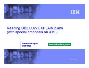 Reading DB2 LUW EXPLAIN plans (with special emphasis on XML)