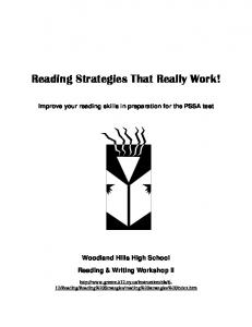Reading Strategies That Really Work!