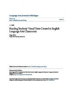 Reading Students' Visual Texts Created in English Language Arts Classrooms