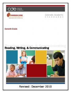 Reading, Writing, & Communicating